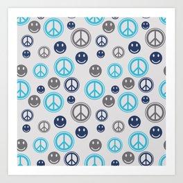 Peace Smile Art Print