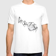 Disaster  White MEDIUM Mens Fitted Tee