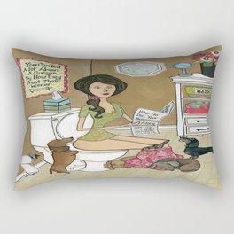 Treat Your Wiener Good Rectangular Pillow
