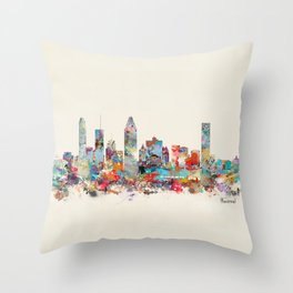 Montreal Quebec skyline Throw Pillow