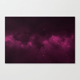 Fascinating view of the pink cosmic sky Canvas Print