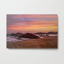 Sunset over Sri Lanka Metal Print