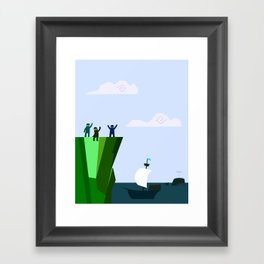 You and me by the sea Framed Art Print