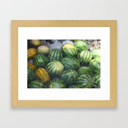 Cool Watermelon Framed Art Print
