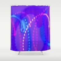 the lights Shower Curtains featuring Lights by okelsc