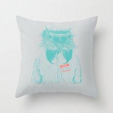 Mr. Bitey Throw Pillow