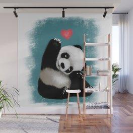 Panda Love (Color) Wall Mural