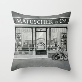 The shop around the corner Throw Pillow