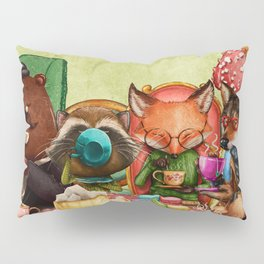 Woodland Friends at Teatime in Forest Pillow Sham