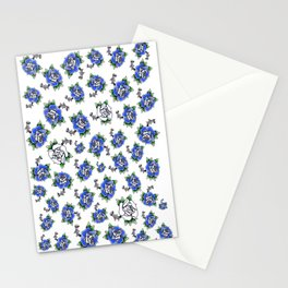 Blue Rose Pattern missing roses  Stationery Cards