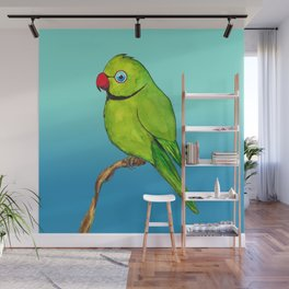 Cute Indian ring neck Wall Mural