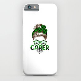 Lucky Carer St Patricks Day Irish Shamrock Nurse iPhone Case
