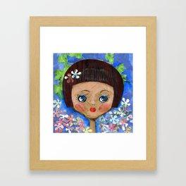 Dollface Framed Art Print