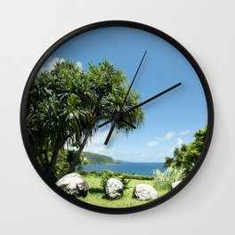 Keanae Maui Hawaii Wall Clock