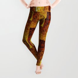 Golden Pear - Warm inviting delicious Golden Pear by Labor of Love artist Sharon Cummings. Leggings