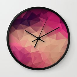 Polygon picture . Sunset. Wall Clock