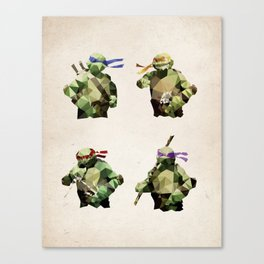 Polygon Heroes - TMNT Canvas Print