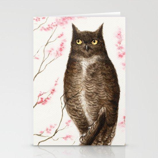 Spring Owl Stationery Cards