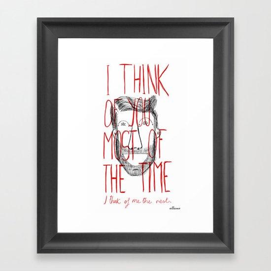 I think of you Framed Art Print