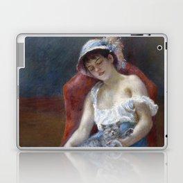 Sleeping Girl with a Cat by Pierre August Renoir Laptop & iPad Skin