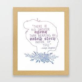 Maya Angelou- Untold Stories Framed Art Print
