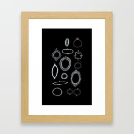 Blacked Out Frames Framed Art Print