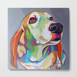 Millie the Basset Hound Metal Print