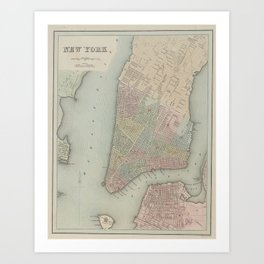 Bradford, Thomas Gamaliel AN ILLUSTRATED ATLAS, GEOGRAPHICAL STATISTICAL, AND HISTORICAL, OF THE UNI Art Print