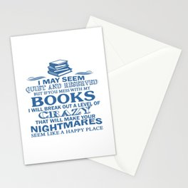 BOOKS CRAZY Stationery Cards
