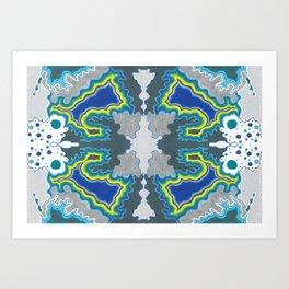 Glacial Kaleidoscope Art Print