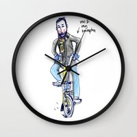 brompton Wall Clocks featuring Me and My Brompton by Swasky