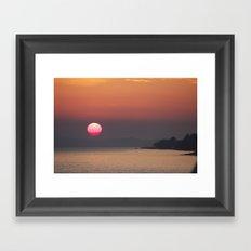 The red sphere Framed Art Print