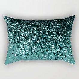 Teal Mermaid Ocean Glitter #3 #shiny #decor #art #society6 Rectangular Pillow