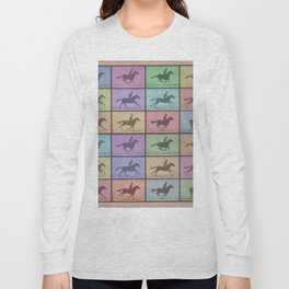 Time Lapse Motion Study Horse Color Long Sleeve T-shirt