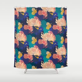 Chrysanthemums and Marigolds Shower Curtain