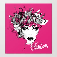 fashion illustration Canvas Prints featuring fashion illustration by Irmak Akcadogan