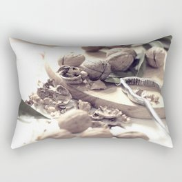 Food porn, still life, kitchen wall art, living room, home decor, nuts Rectangular Pillow