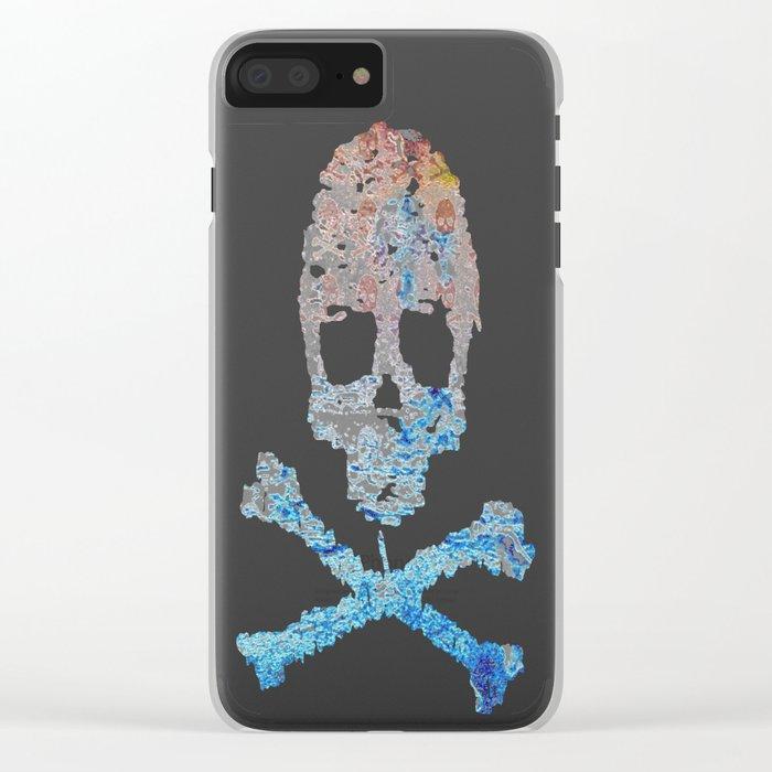 Dead Frost Skulls (Lighter) Clear iPhone Case
