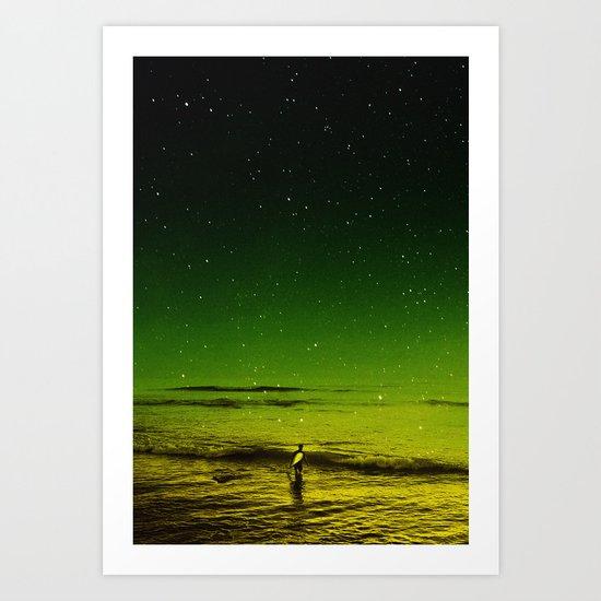 Lost Surfer Star Series Art Print