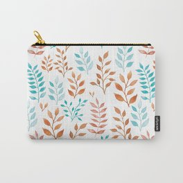 Watercolor twigs in turqoise and hazel colors Carry-All Pouch