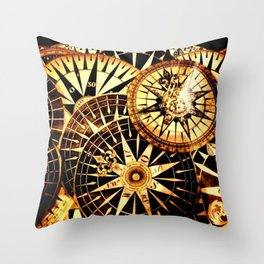 Northern Compass Throw Pillow