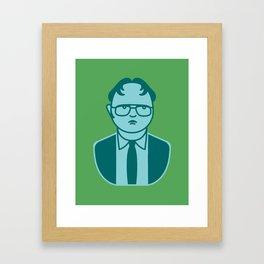 Dwight S. Pop Art Framed Art Print