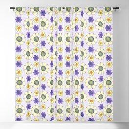 Crazy Daisies Lavender Blackout Curtain