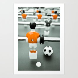 Table Football 02B - Defender - Orange (everyday 30.01.2017) Art Print