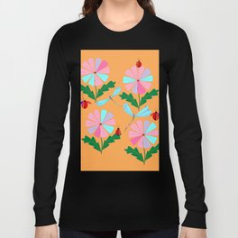 Spring Damselflies, Lady Bugs and Daisies Long Sleeve T-shirt