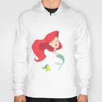 ariel Hoodies featuring Ariel by Rod Perich