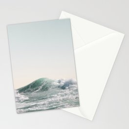 Waves and Sunrise Happy Summer Photography Ocean Beach Vibes Tropical Water Sea Stationery Cards
