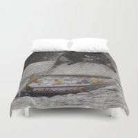 orca Duvet Covers featuring Orca by Lerson