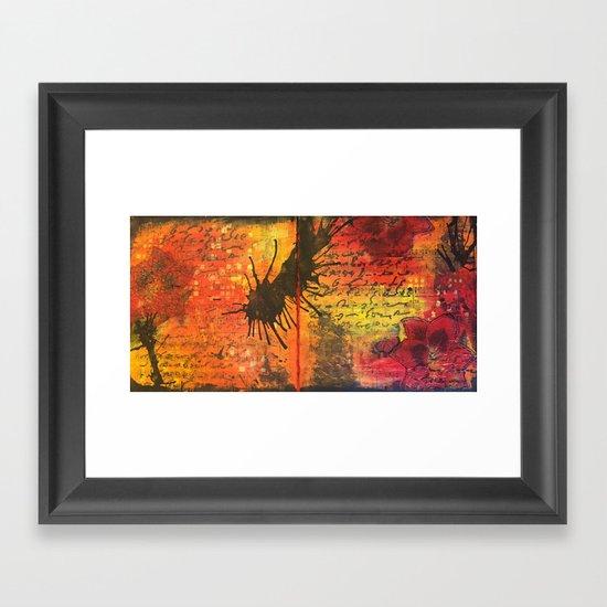 Symphony In Red Framed Art Print