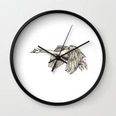 Flying Swan Wall Clock